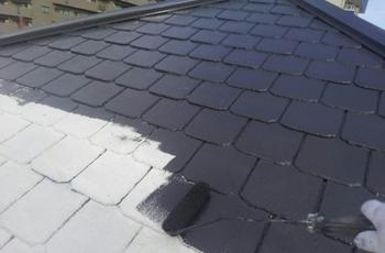 ①屋根塗装