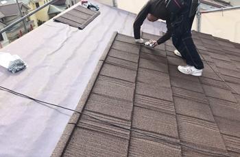 ②屋根カバー工法