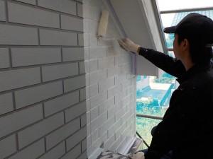 姫路市 カラーシュミレーションを吟味し、2色使いの塗装工事…シックなお家へ