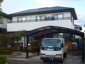 姫路市 1階と2階の2色使いの塗装工事で、重厚感のある趣の家に。