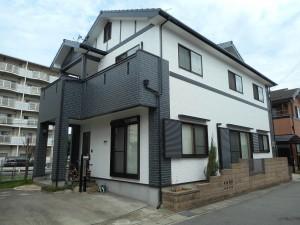 姫路市 長持ちする外壁へ…レンガ調のサイディングを活かした立体的な3色仕上げの塗装工事