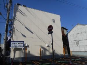 姫路市  3階建て建物 外壁シリコン塗装工事
