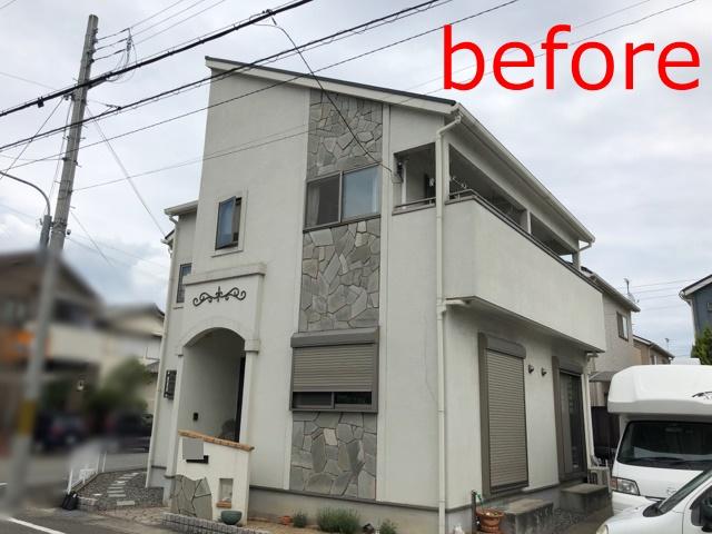 黒に白が映え、センスが光る‼屋根には、遮熱効果の高い塗料を使用!