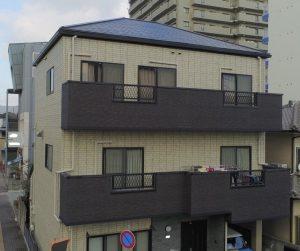 姫路市 3階建ての外壁を世界に一つだけの多彩色仕上げ塗装(再現工法)
