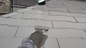 相生市 グレーの濃淡がモダンでおしゃれな屋根・外壁塗装
