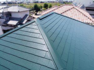 グリーン屋根塗装後