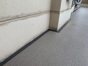 マンションバルコニーの雨漏りコーキング(シーリング)修理 姫路市
