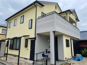 ガイナ屋根塗装はグレー、外壁ツートンカラーのマットな仕上がり 姫路