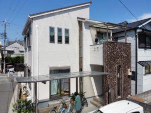 加古川市 外壁サイディングをクリアー塗装+模様付け塗装でお洒落に