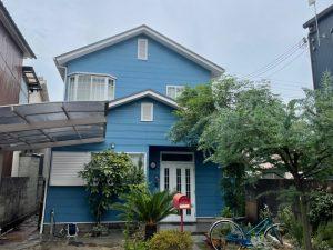 外壁塗装でアメリカンスタイルへ大変身!爽やかブルーグレー塗り替え 姫路