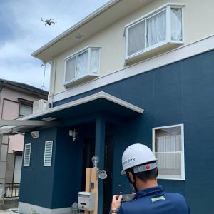 姫路市外壁塗装後ドローン定期点検